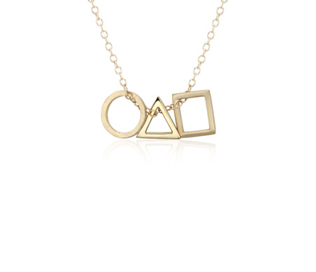 Geometric shapes pendant in 14k yellow gold blue nile geometric shapes pendant in 14k yellow gold mozeypictures Gallery