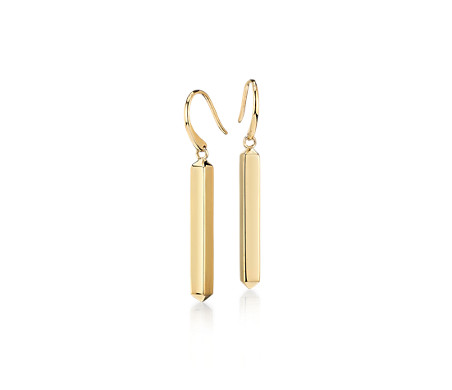 Blue Nile Bar Drop Earrings in 14k Yellow Gold A6kTSEcLNd