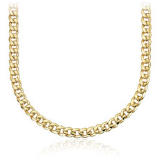 Men's Miami Cuban Link Chain in 14k Yellow Gold