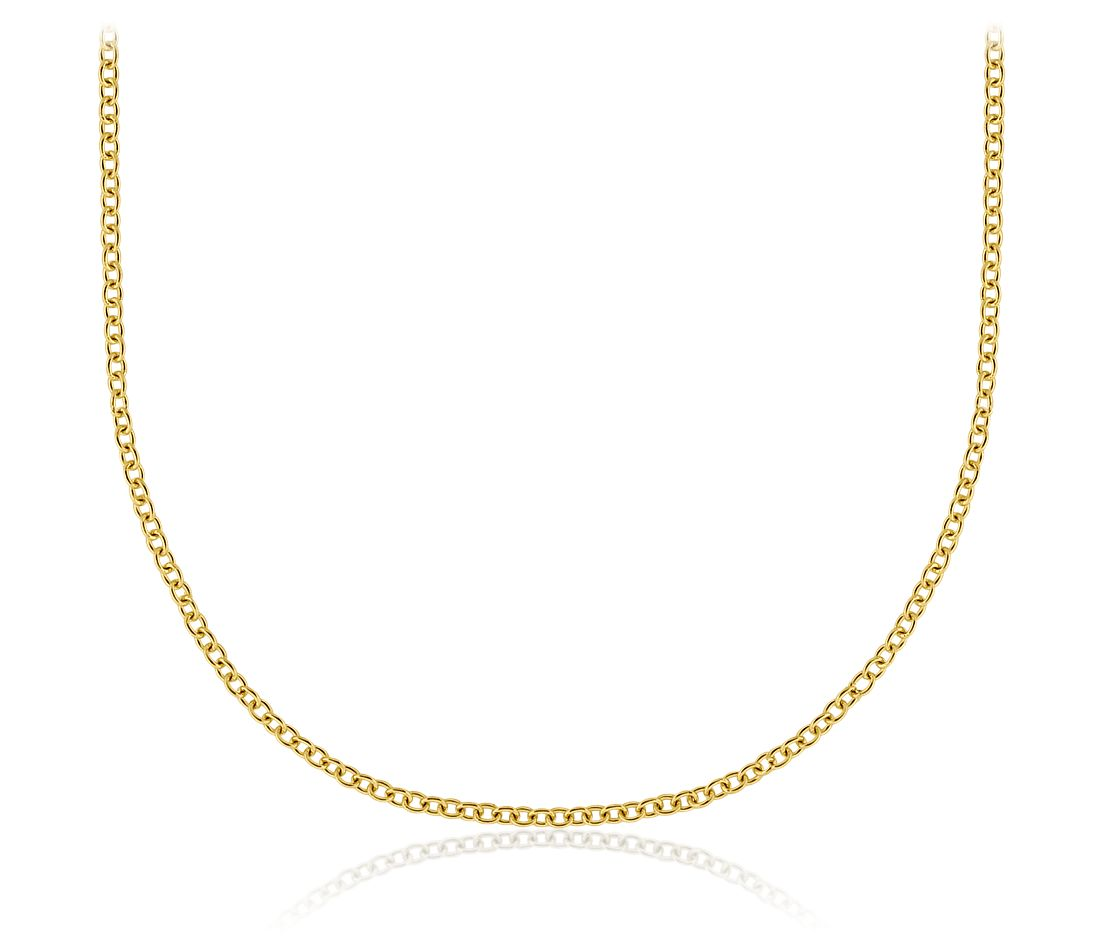 cable chain in 18k yellow gold blue nile