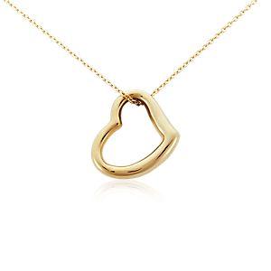 Pendentif cœur ouvert en or jaune 14carats