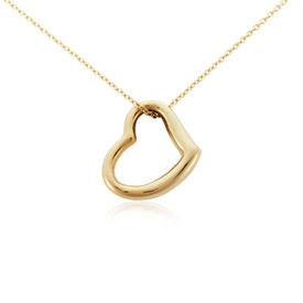 Colgante de contorno de corazón en oro amarillo de 14k