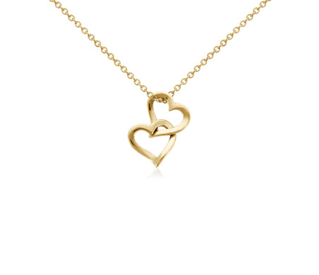 Blue Nile Petite Football Charm Necklace in 14k Yellow Gold 1slNxpUOr2