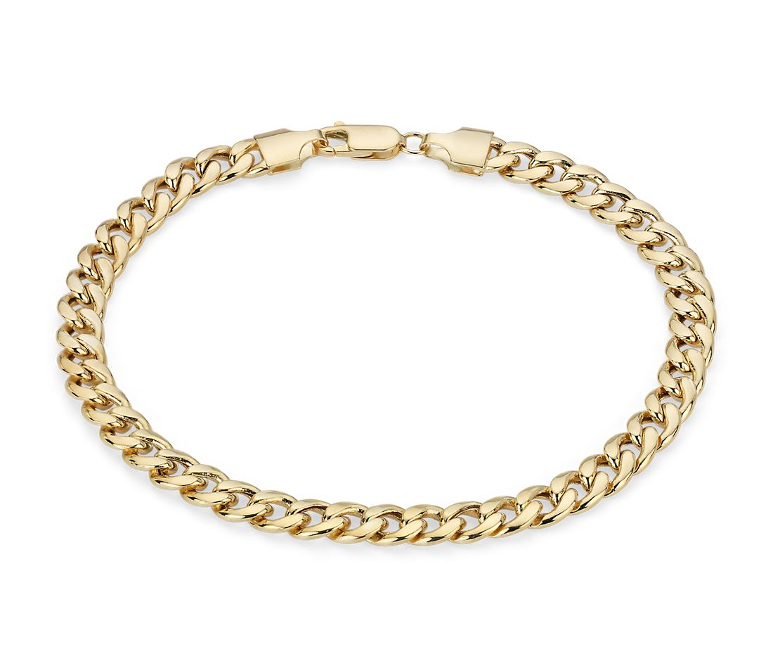 Men's Miami Cuban Link Bracelet in 14k Yellow Gold
