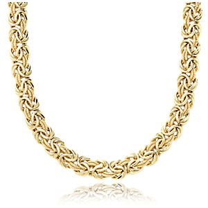 Collier byzantin en or jaune 18 carats