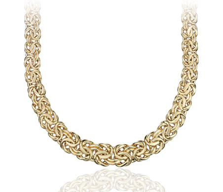 Graduated Byzantine Necklace in 18k Yellow Gold