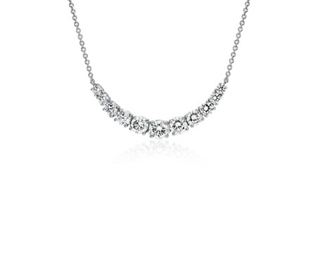 drop diamond necklace wg pendant in graduated platinum nl jewelry princess with white