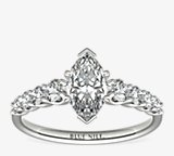 Graduated Side Stone Diamond Engagement Ring