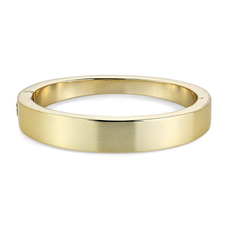 Graduated Thick Bangle in 14k Italian Yellow Gold