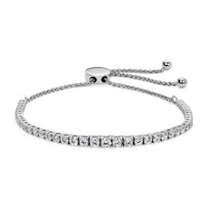 NEW Graduating Diamond Bolo Bracelet in 14k White Gold (2 ct. tw.)
