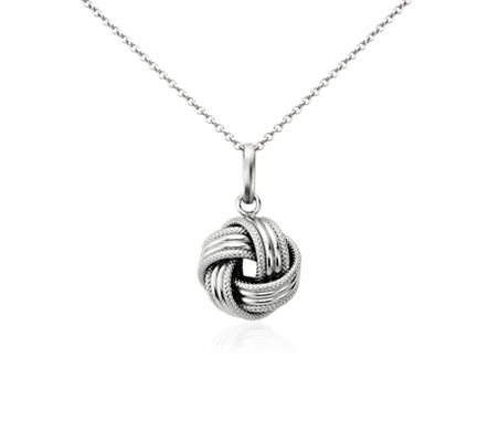 Grande love knot pendant in 14k white gold blue nile grande love knot pendant in 14k white gold aloadofball Choice Image