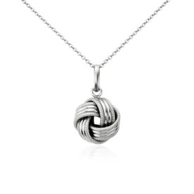 Grande Love Knot Pendant in 14k White Gold