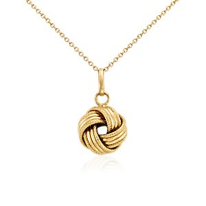 Grande Love Knot Pendant in 14k Yellow Gold