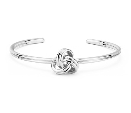 Blue Nile Grande Luxe Love Knot Cuff Bracelet in Sterling Silver