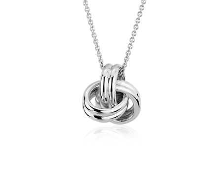 Grande Luxe Love Knot Pendant in Sterling Silver