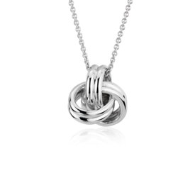 NEW Grande Luxe Love Knot Pendant in Sterling Silver
