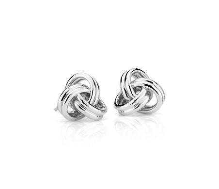 925 純銀 大型奢華愛之結釘款耳環