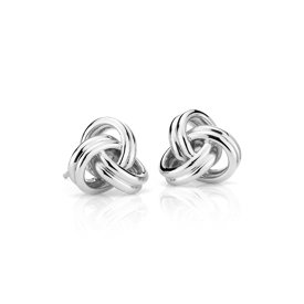 NEW Grande Luxe Love Knot Stud Earrings in Sterling Silver
