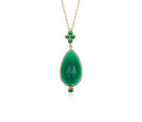 Frances gadbois green onyx tsavorite pendant in 14k yellow gold frances gadbois green onyx tsavorite pendant in 14k yellow gold 18x10mm aloadofball