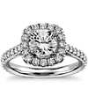 Square Halo Diamond Engagement Ring in 14k White Gold (.65 ct. tw.)
