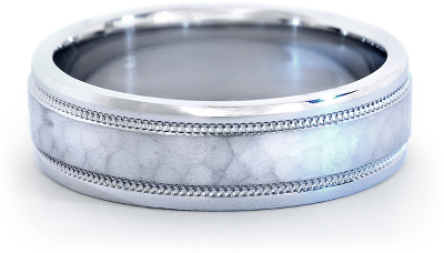 Hammered Milgrain Comfort Fit Wedding Ring in Platinum 6mm Blue Nile