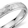 Hammered Wedding Ring in Platinum (4mm)