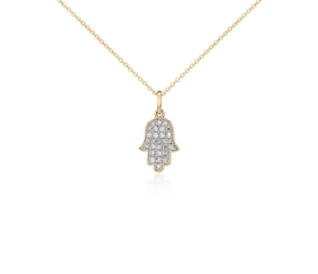 Mini hamsa diamond pendant in 14k yellow gold 110 ct tw blue nile mini hamsa diamond pendant in 14k yellow gold 110 ct tw mozeypictures