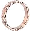 Hand-Engraved Criss-Cross Wedding Ring in 14k Rose Gold (4mm)