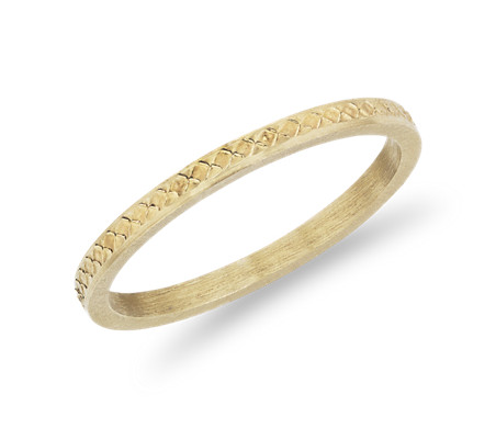 Hand-Engraved Honeycomb Fashion Ring in 14k Yellow Gold