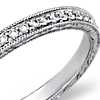 Hand-Engraved Micropavé Diamond Ring in 14k White Gold (1/5 ct. tw.)