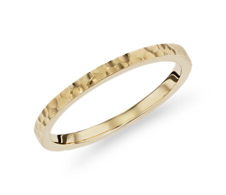 Hand-Hammered Fashion Ring in 14k Yellow Gold