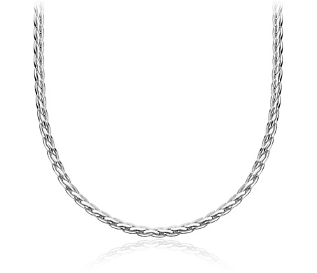 Heart Charm Choker Necklace in Sterling Silver