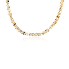 Heart Link Chain in 14k Yellow Gold