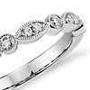 Milgrain Marquise and Dot Diamond Ring in Platinum (1/5 ct. tw.)