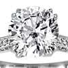 Heirloom Micropavé Diamond Engagement Ring in Platinum (1/3 ct. tw.)