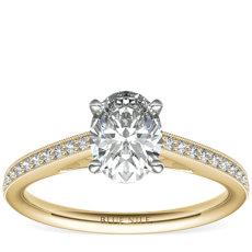 18k 金 Riviera Pavé 家传之宝大教堂钻石订婚戒指<br>(1/10 克拉总重量)