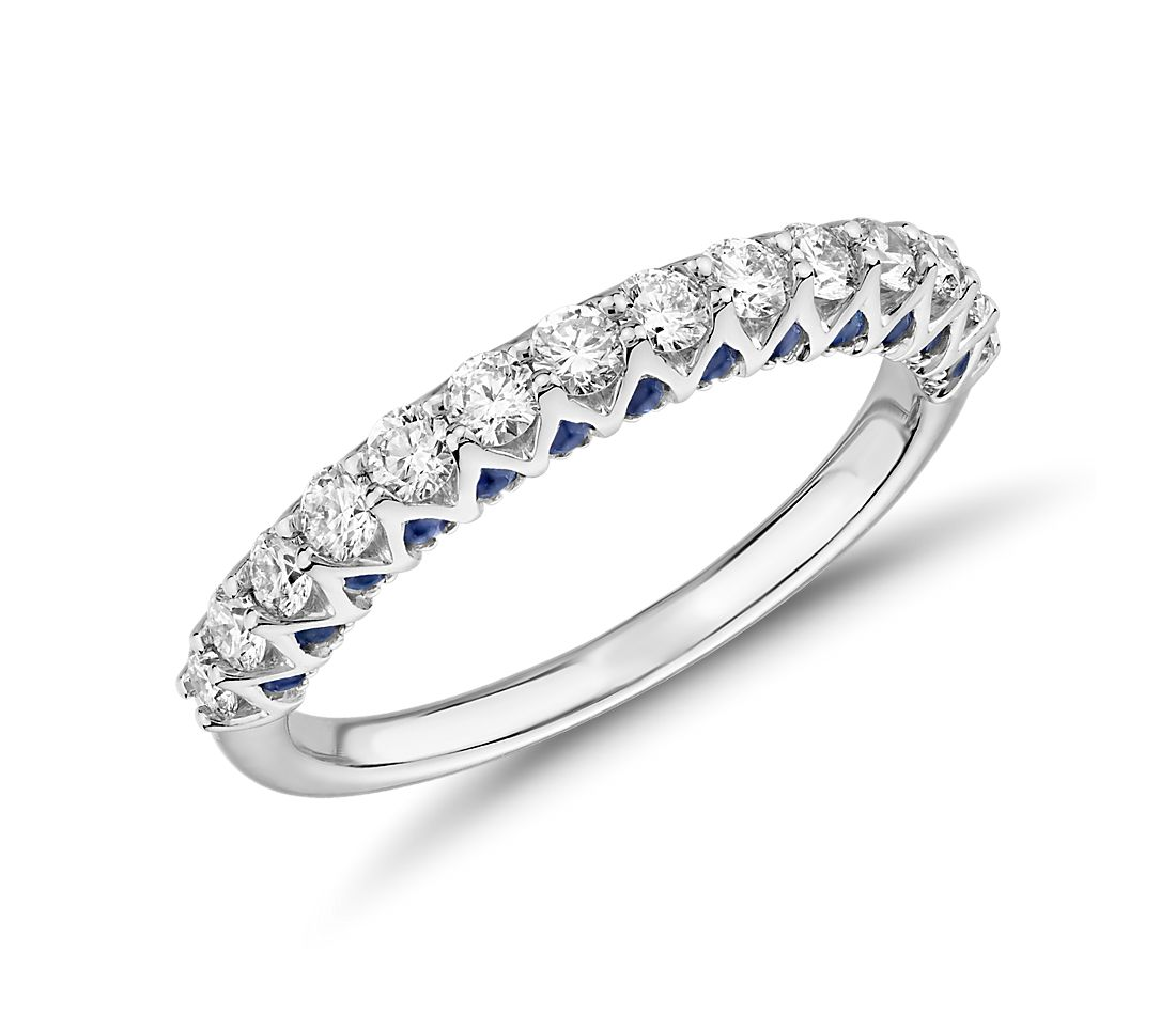 Hidden Sapphire and Diamond Ring in Platinum (1/2 ct. tw.)