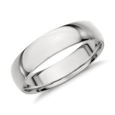 Mid Weight Comfort Fit Wedding Ring In Platinum 5mm