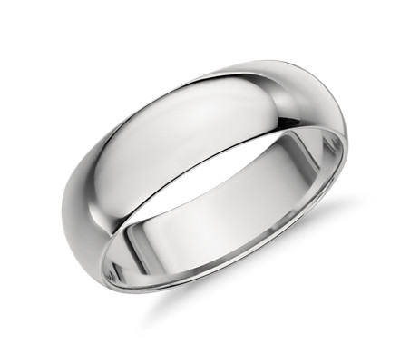Mid-weight Comfort Fit Wedding Band in Platinum (6mm)