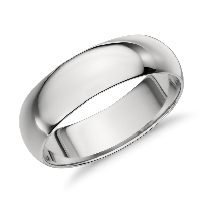 Mid weight Comfort Fit Wedding Band in Platinum 7mm Blue Nile