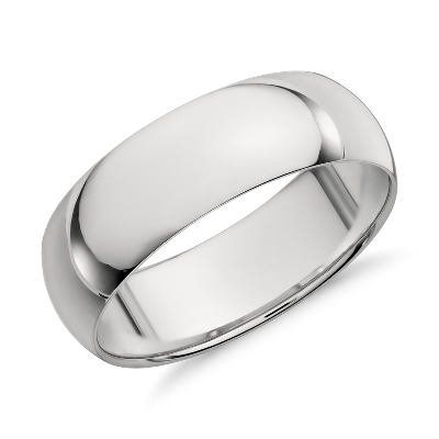 Midweight Comfort Fit Wedding Band in Platinum 7mm Blue Nile