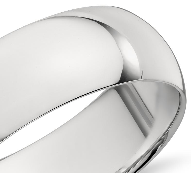 Alliance confort légère en platine (7mm)