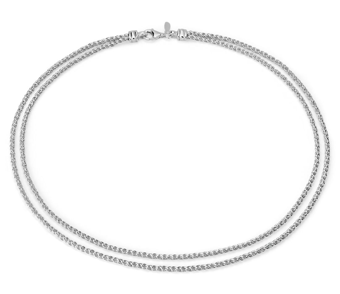 High Polish Woven Necklace in Sterling Silver
