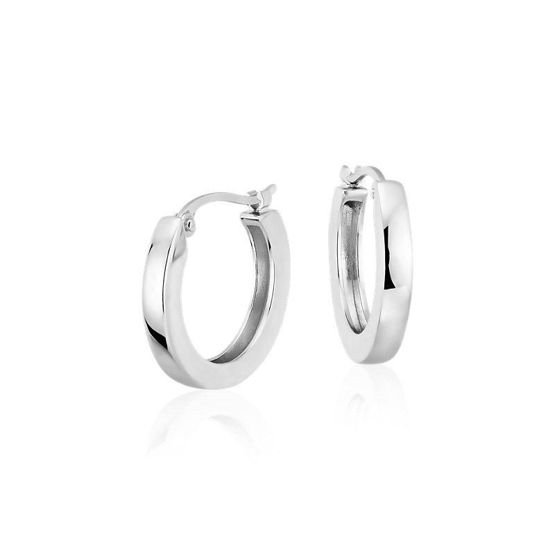 """Hoop Earrings in Platinum (5/8"""")"""