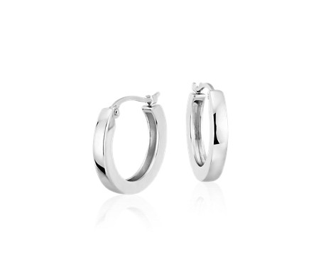 "Hoop Earrings in Platinum (5/8"")"