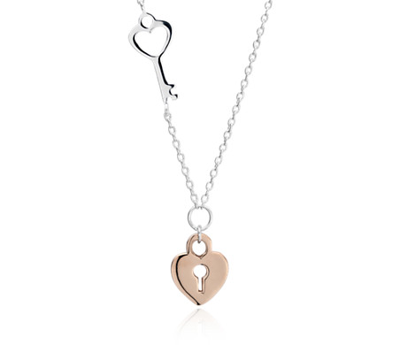 treskow duo von heart padlock necklace wrap products around love jewellery