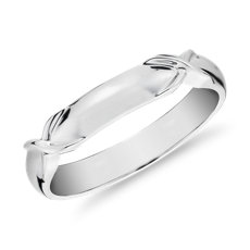 Icon Male Ring in 18k White Gold (3.5mm)