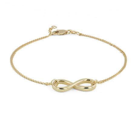 Bracelet Infinity en or jaune 14carats