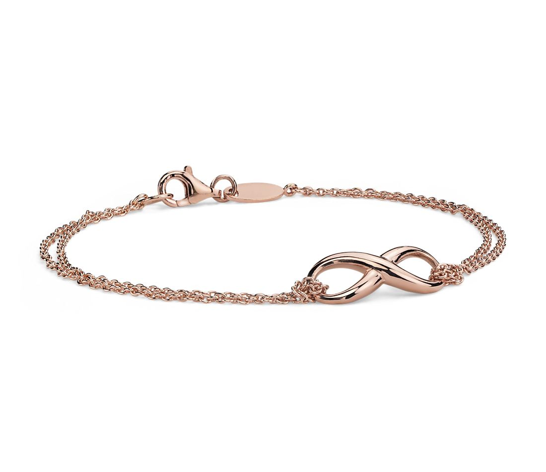 Infinity Chain Bracelet in Rose Gold Vermeil