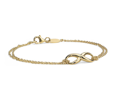 Infinity Chain Bracelet in Yellow Gold Vermeil